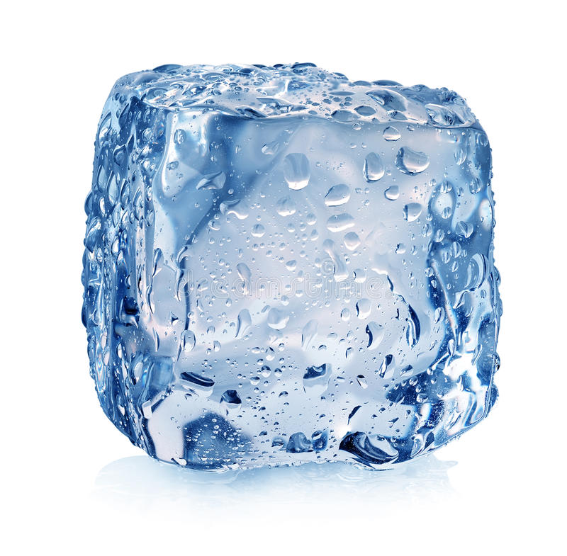 Free Ice Cube With Drops Stock Photos - 37422783