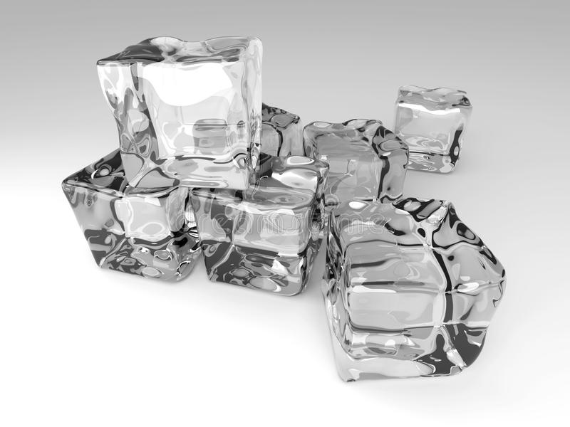 Download Ice Cubes stock illustration. Image of clean, melt, block - 16519409