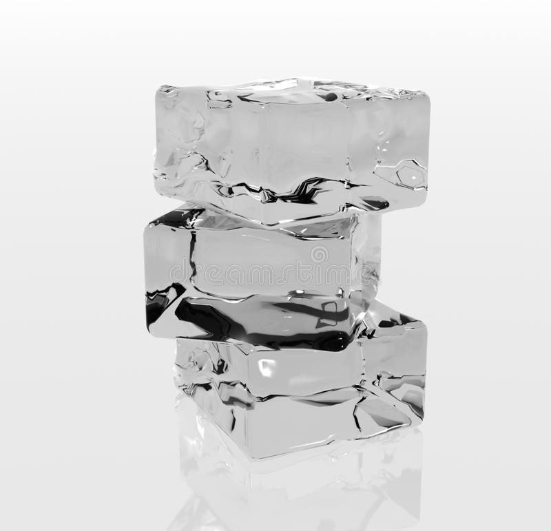 Ice cubes royalty free stock photos