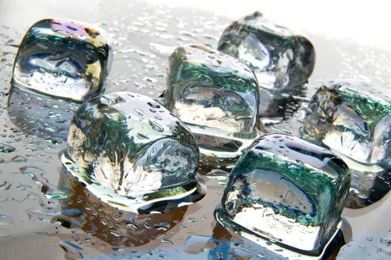Ice cubes stock image