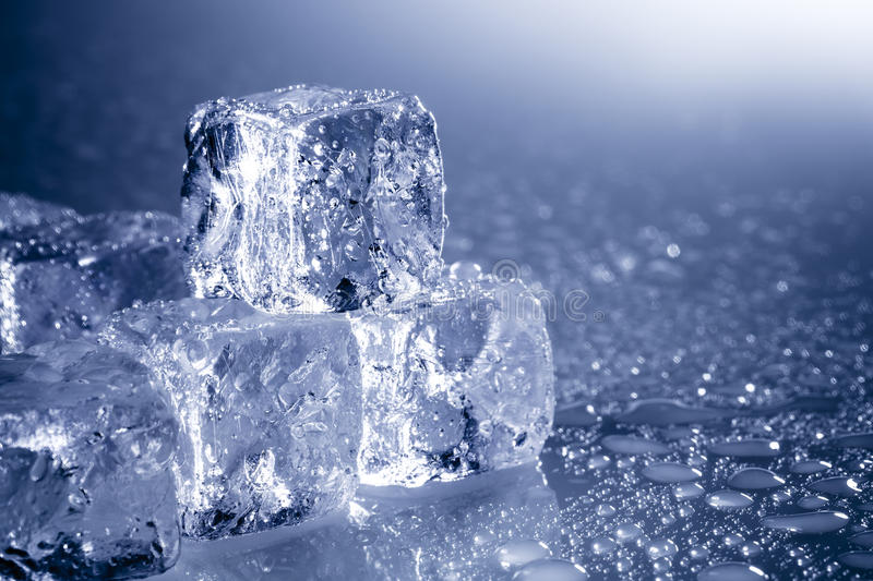 Ice cubes with copyspace royalty free stock image