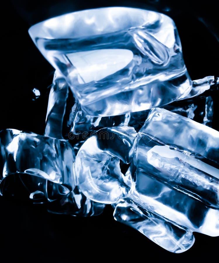 Ice cubes feel fresh on hot days. Background royalty free stock photo