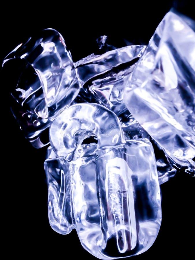 Ice cubes feel fresh on hot days. Background stock image