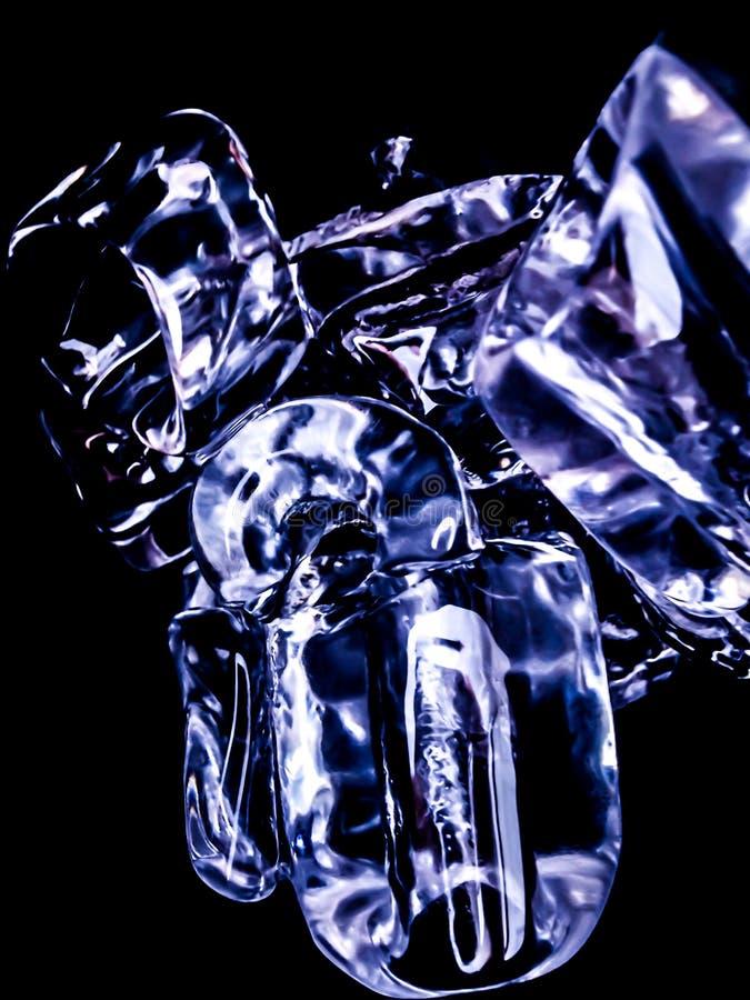 Ice cubes feel fresh on hot days. Background stock photography