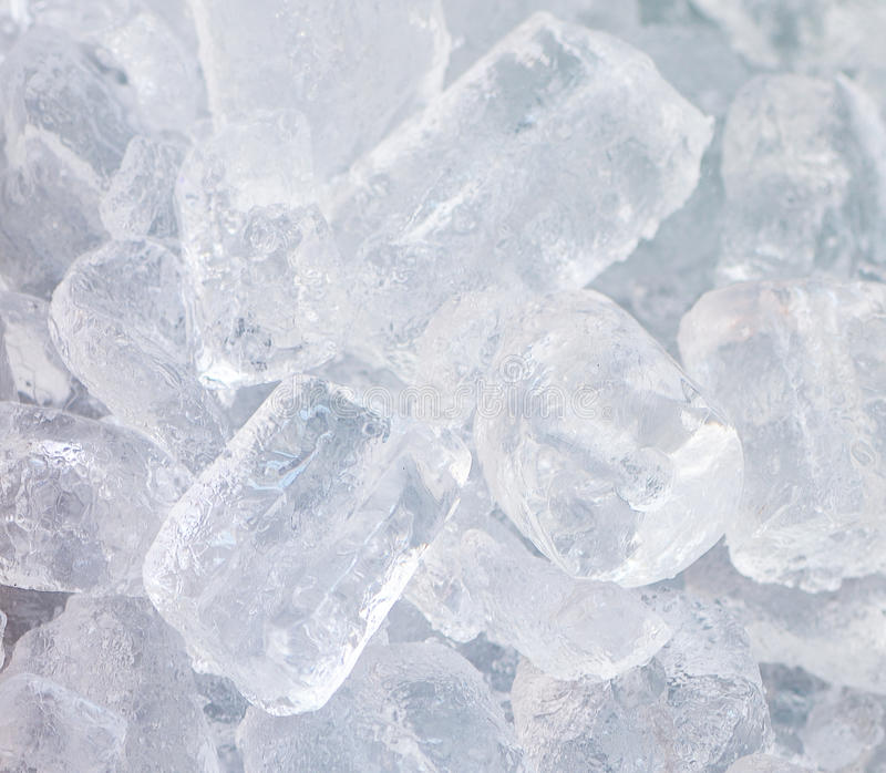 Ice cubes. Freezer and cold stock photography
