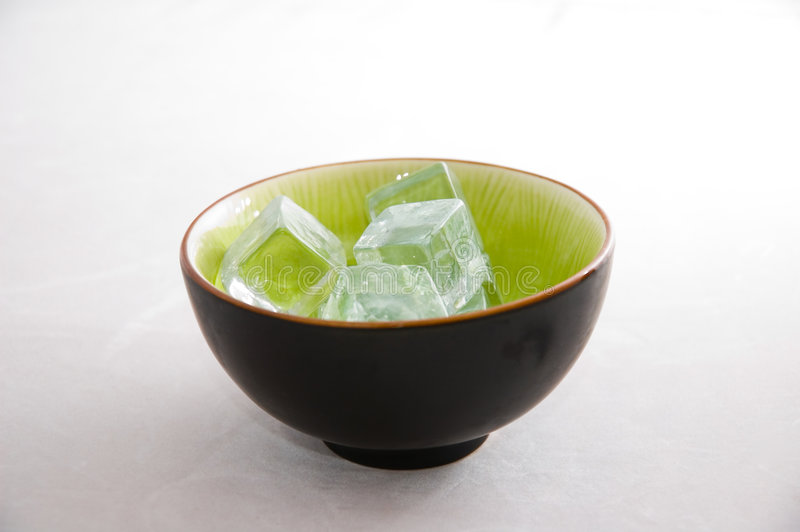 Download Ice cubes in a Green Bowl stock photo. Image of life, cold - 1270368