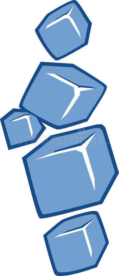 Ice cubes icon royalty free illustration