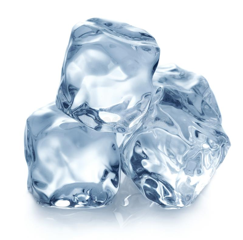 Piramid of ice cubes royalty free stock images