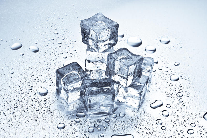 Ice Cubes Melting Stock Images