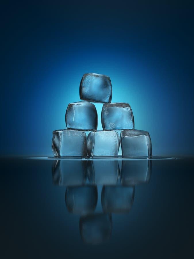 Ice cubes pyramid