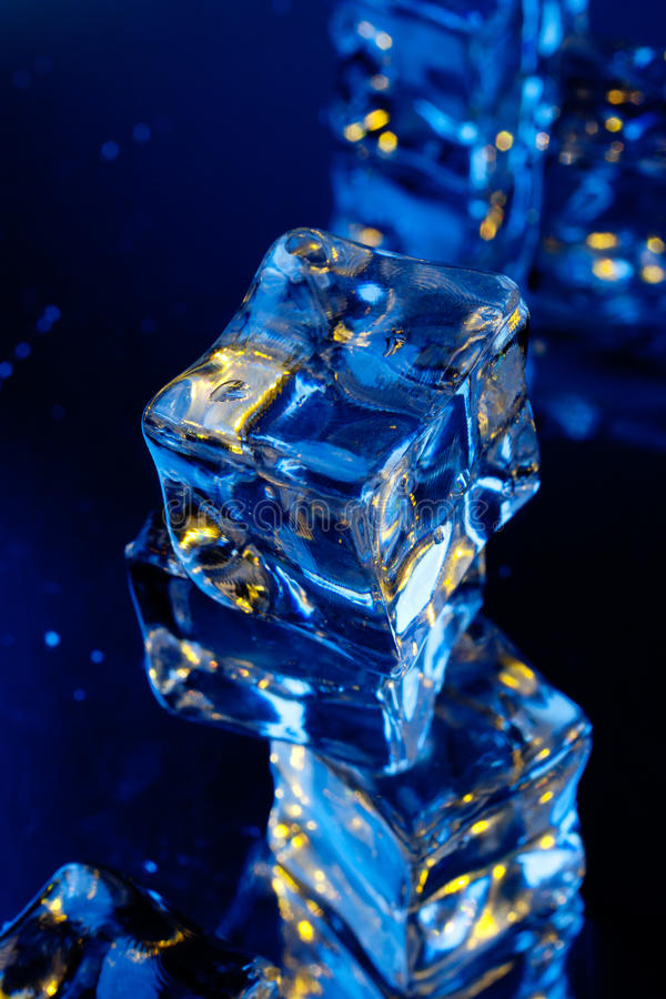 Download Ice cubes with reflection stock photo. Image of liquid - 25301392