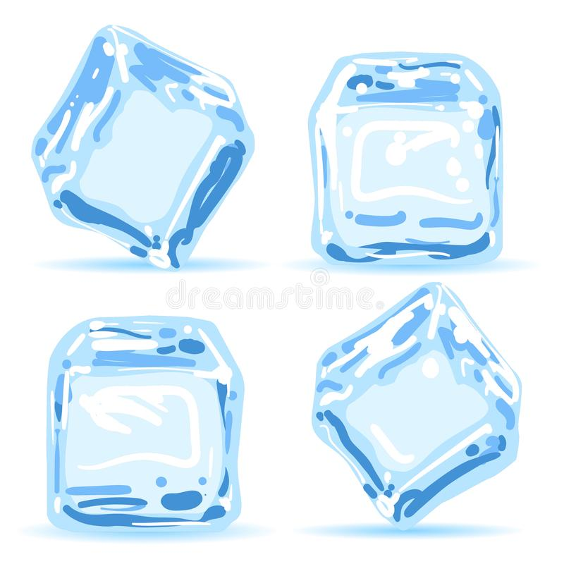 Free Ice Cubes Set Royalty Free Stock Images - 103945019