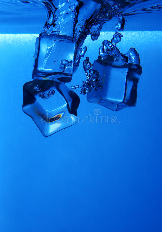 Download Ice cubes splash stock image. Image of move, refreshing - 26718831