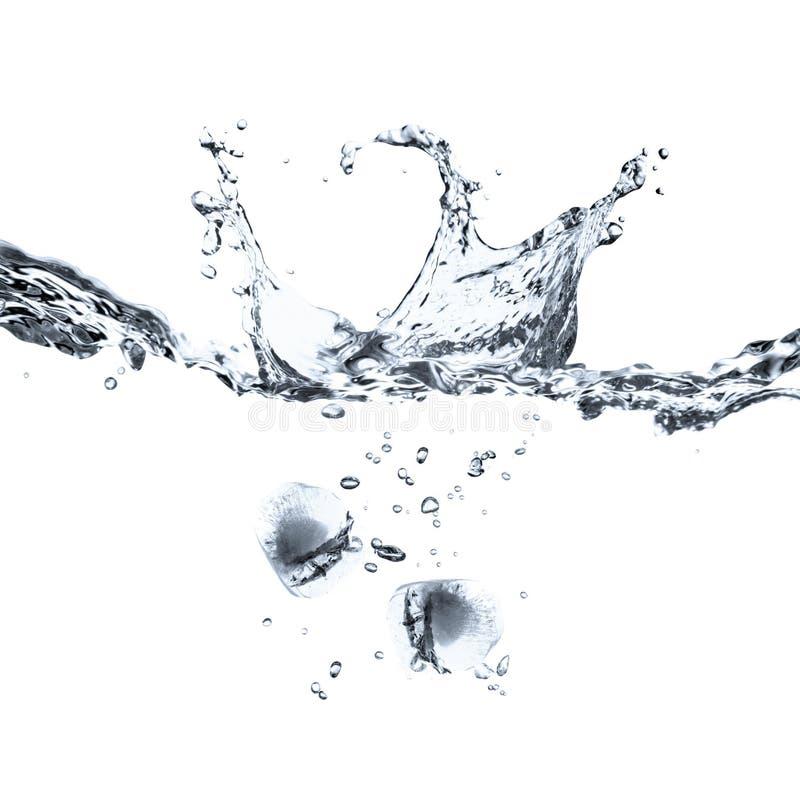 Download Ice cubes splash isolated stock image. Image of fresh - 6801671