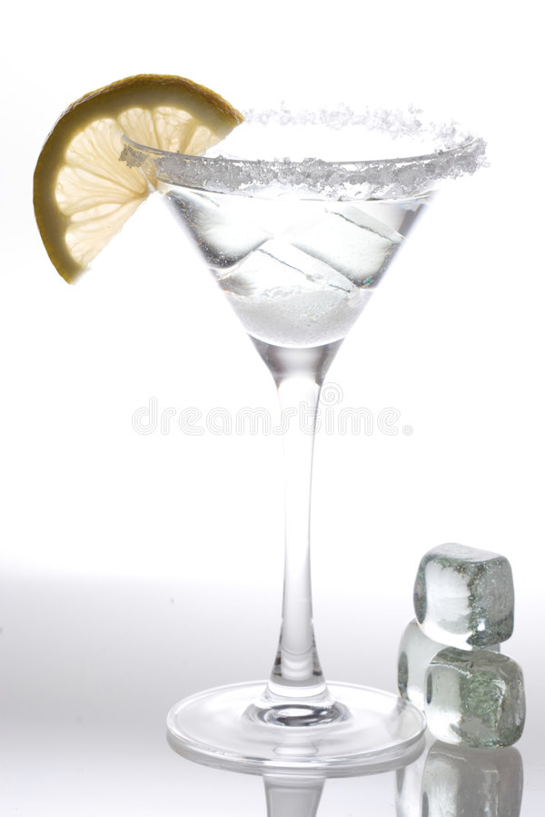 Ice drink with lemon royalty free stock image