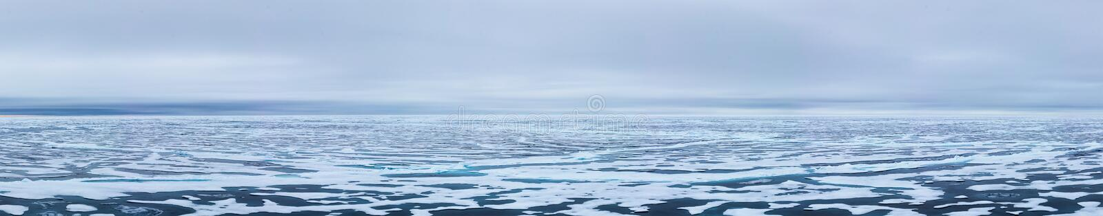 Ice edge at 82 41.01 degrees North from Svalbard stock photography