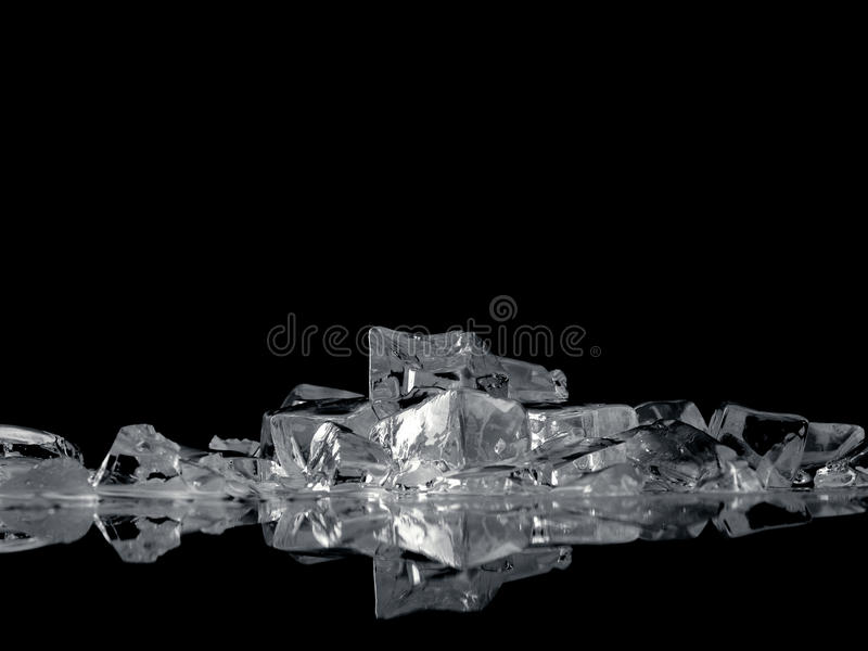 Ice fantasy on black royalty free stock photography