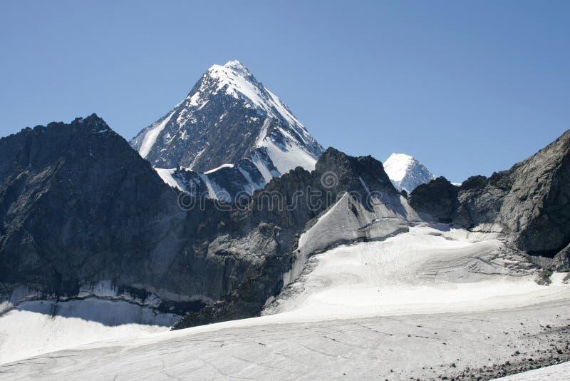 Ice field. Altai. stock photography
