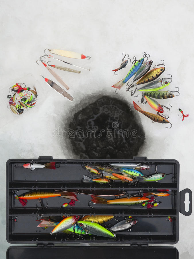 Download Ice fishing lures stock image. Image of angler, decoy - 13314935