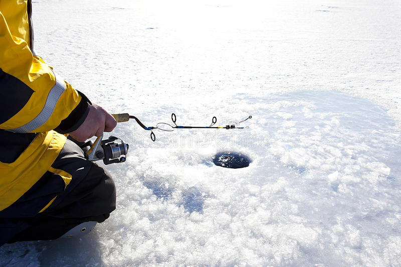 Ice Fishing royalty free stock photo