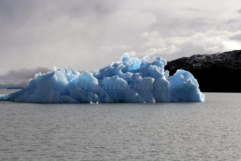 Ice floe. From Upsala glacier on the lake Argentino royalty free stock photos