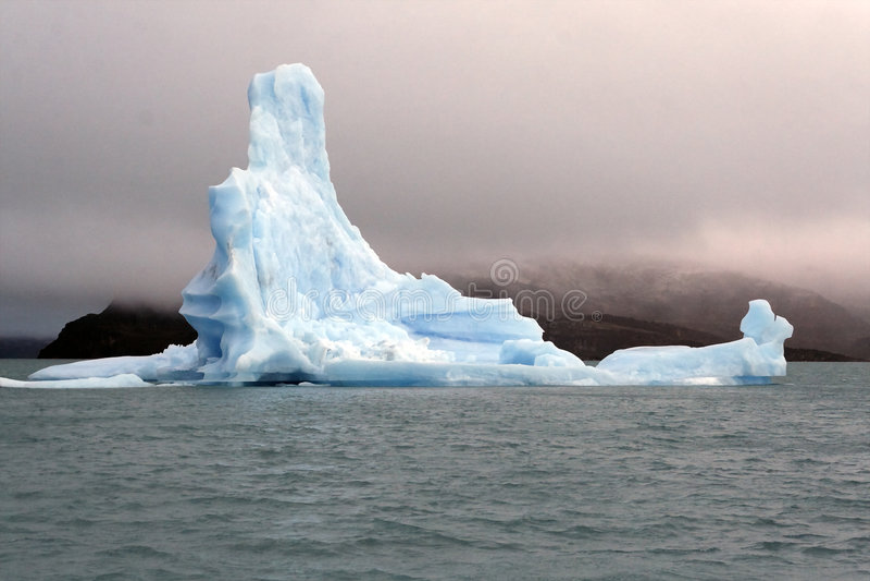 Ice floe. From Upsala glacier on the lake Argentino stock photo