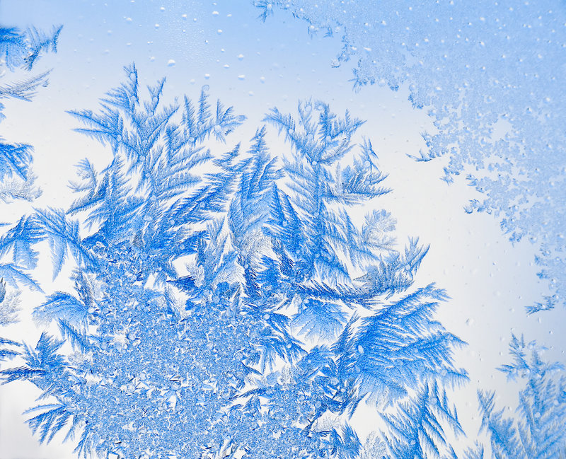 Ice flowers 10 stock photo