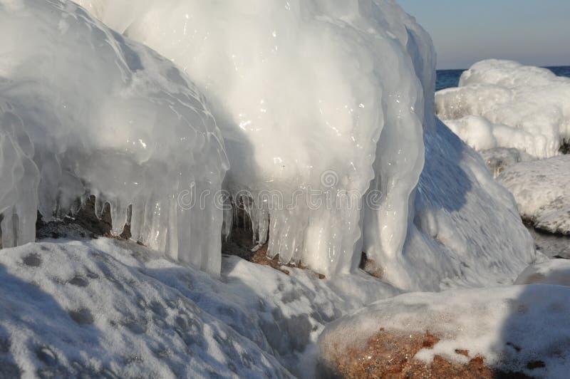 Ice formationer Bornholm royalty free stock image