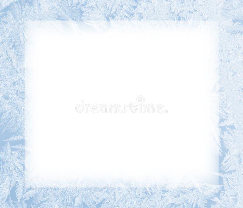 Ice frozen frame vector illustration