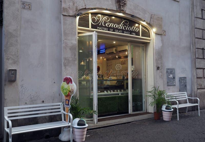 Ice glass parlor i Rom, Italien royaltyfria bilder