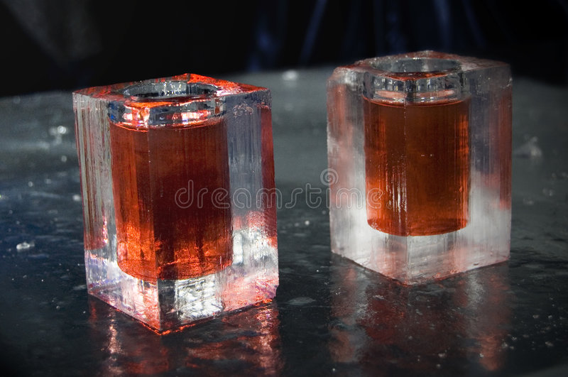 Ice Glasses Stock Photo