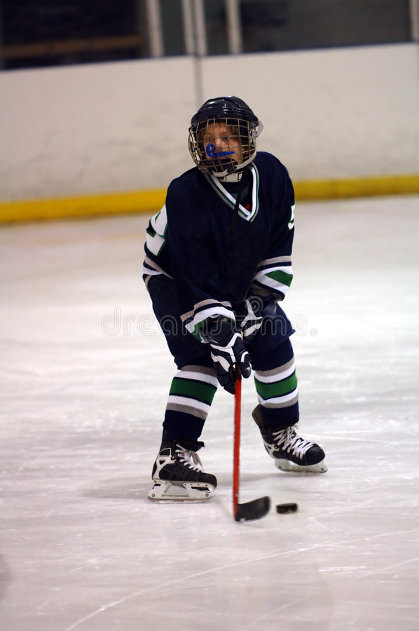 ice graczem hokeja fotografia stock