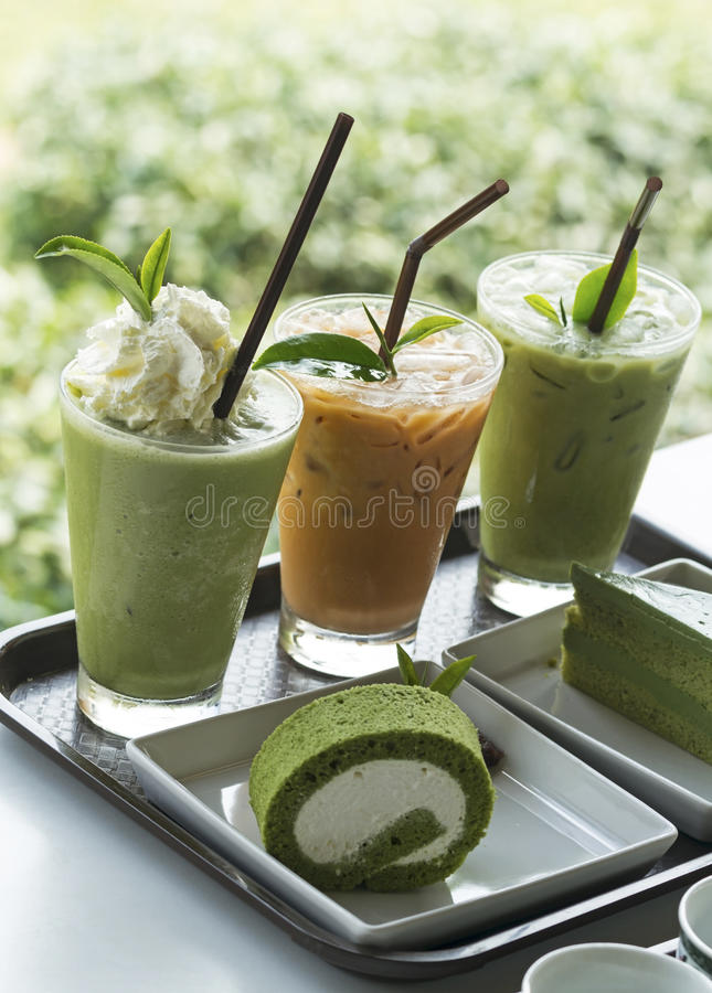 Free Ice Green Tea Stock Image - 41755131