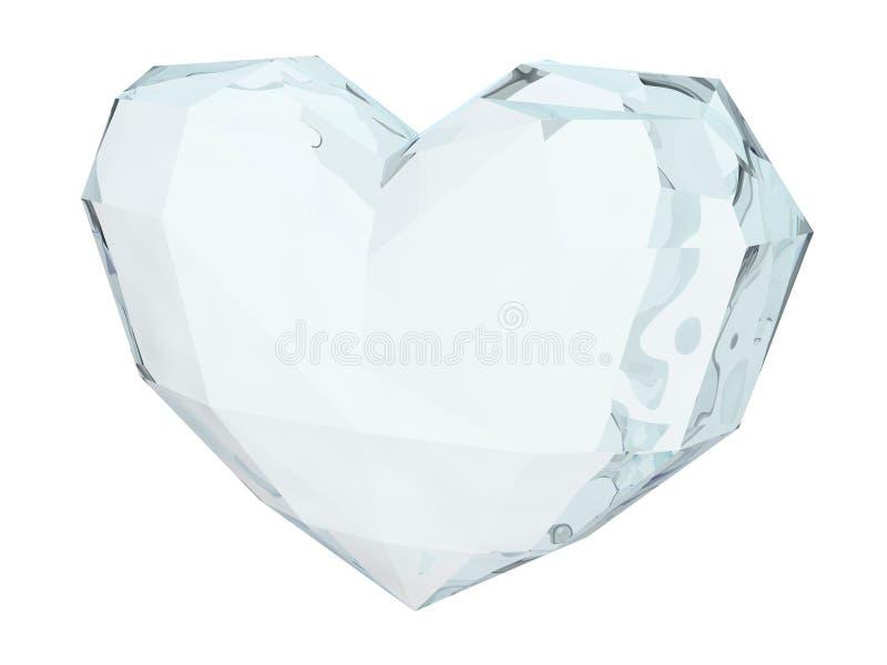 Ice heart royalty free illustration