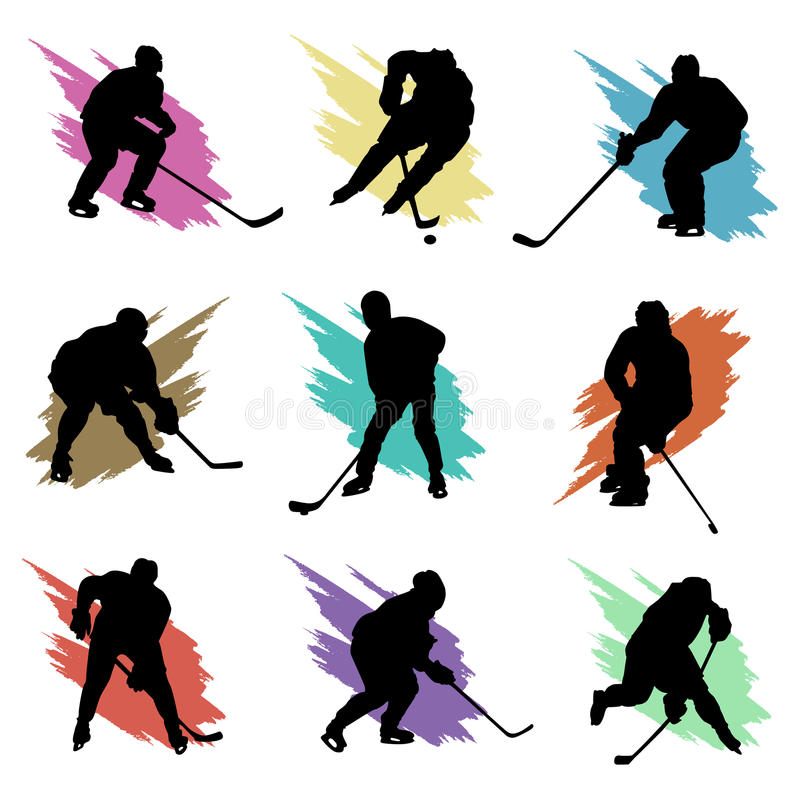 Download Ice hockey stock vector. Image of forward, collection - 14221870