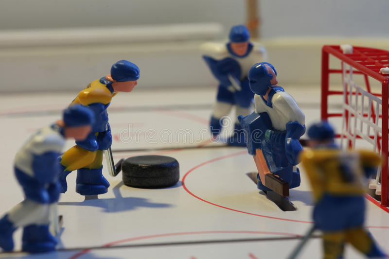 Ice hockey attack. Attack ice hockey table game royalty free stock photo