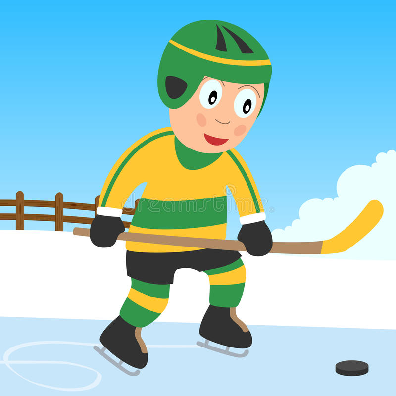 Download Ice Hockey Boy in the Park stock vector. Image of park - 11966366