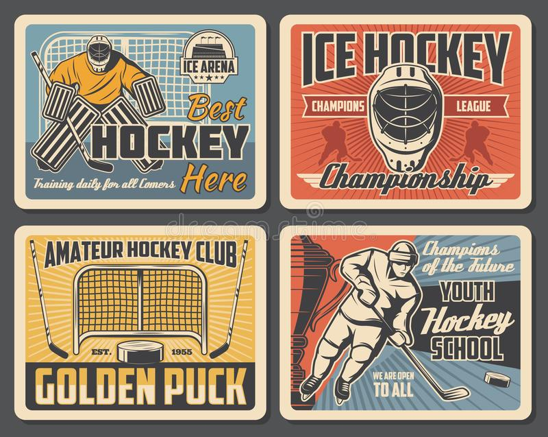 Ice hockey championship, sport club tournament royalty free illustration