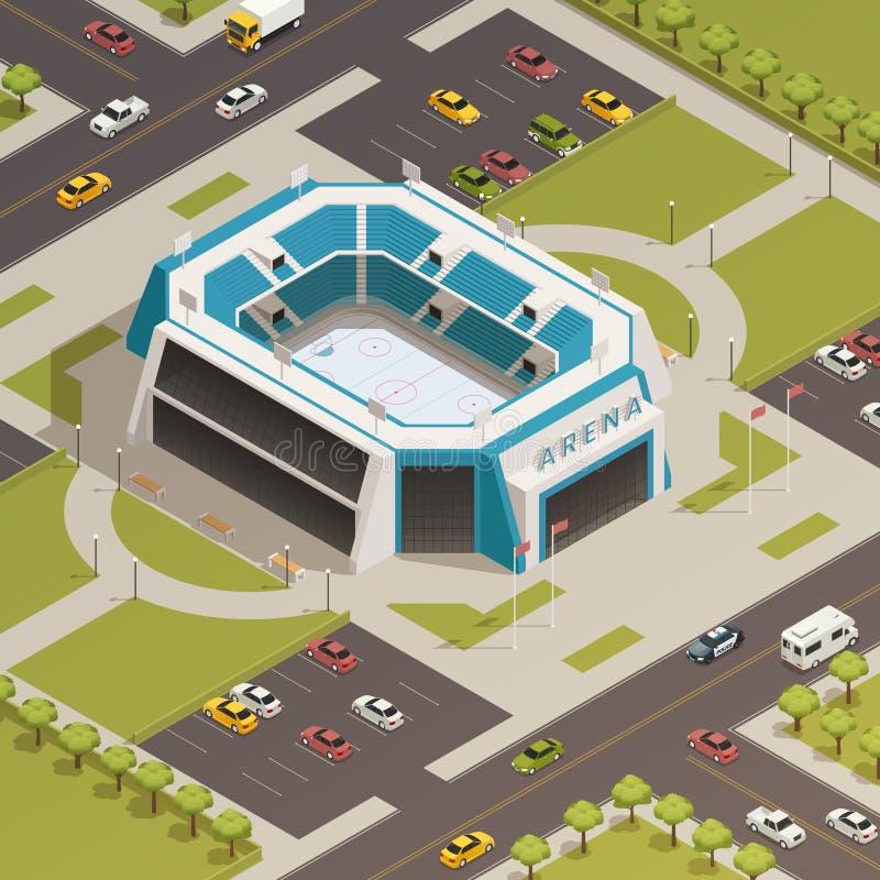 Stadium Sport Arena Isometric Composition royalty free illustration