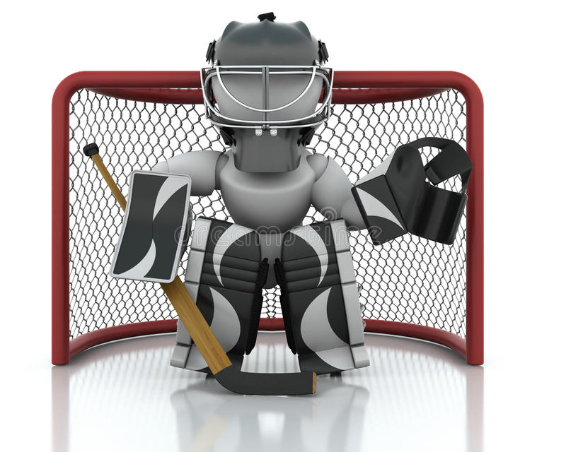 Download Ice hockey Goalie stock illustration. Image of netminder - 12699538