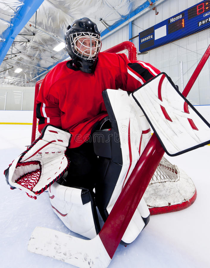 Download Ice hockey goalie stock photo. Image of stick, action - 21140600