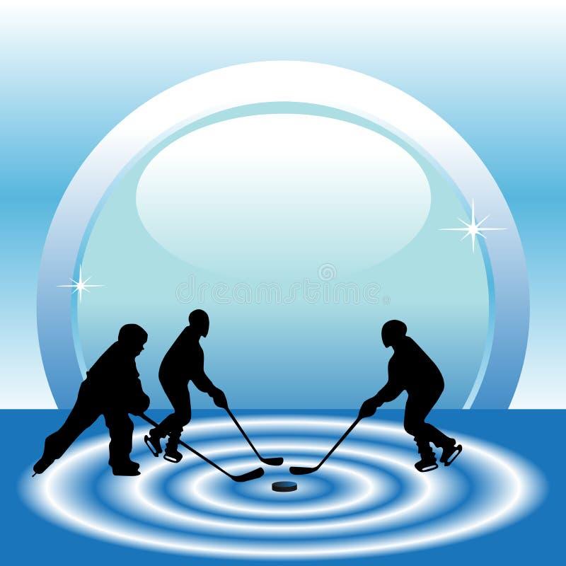 Ice hockey match stock illustration