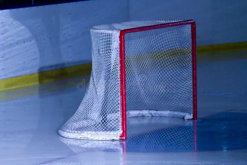 Ice hockey net stock photography