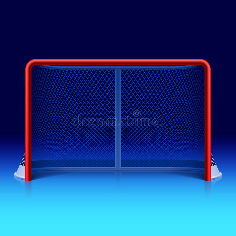 Ice hockey net royalty free illustration