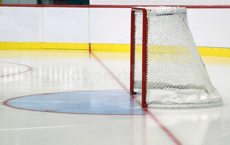 Ice hockey net royalty free stock photo
