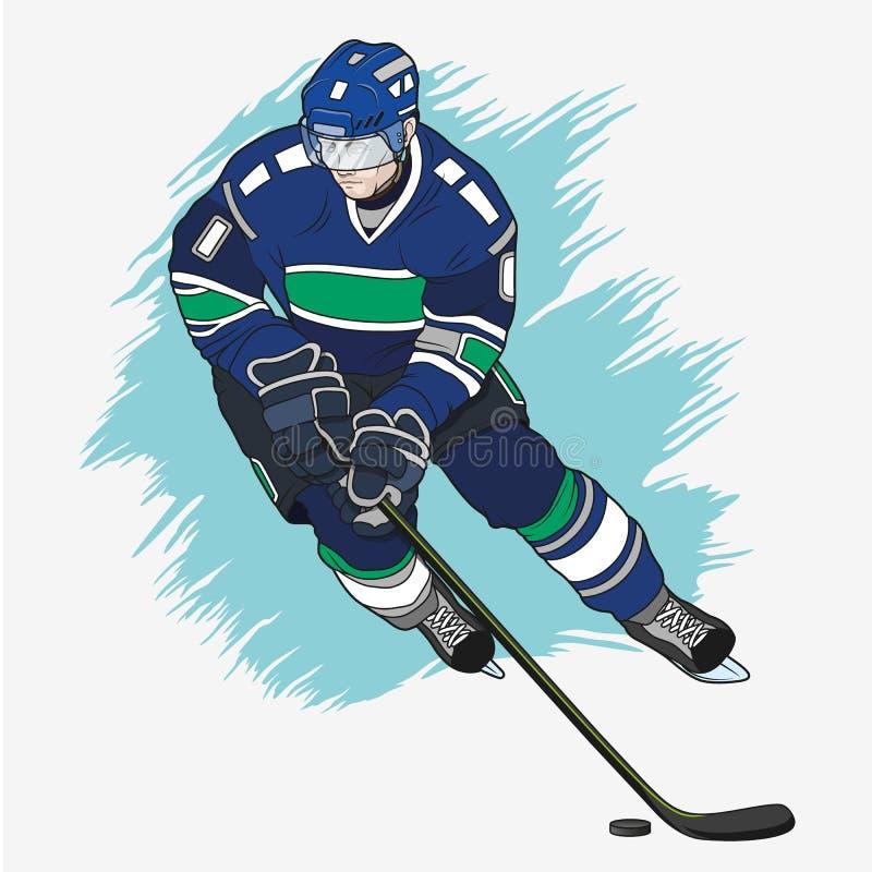 Ice hockey player royalty free illustration