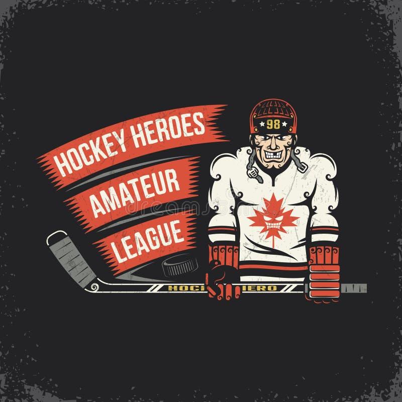 Ice hockey player stock illustration