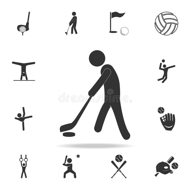 Ice hockey player icon. Detailed set of athletes and accessories icons. Premium quality graphic design. One of the collection icon vector illustration