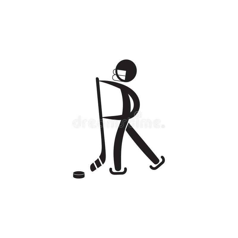 ice hockey player icon. Element of figures of sportsman icon. Premium quality graphic design icon. Signs, symbols collection icon royalty free illustration