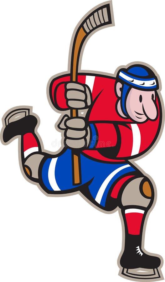 Download Ice Hockey Player Striking Stick Stock Vector - Illustration: 25894925